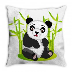 Giant panda bear Throw Pillow | Artistshot