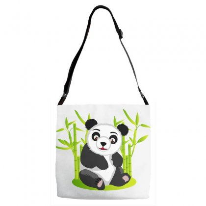 Giant Panda Bear Adjustable Strap Totes Designed By Salmanaz
