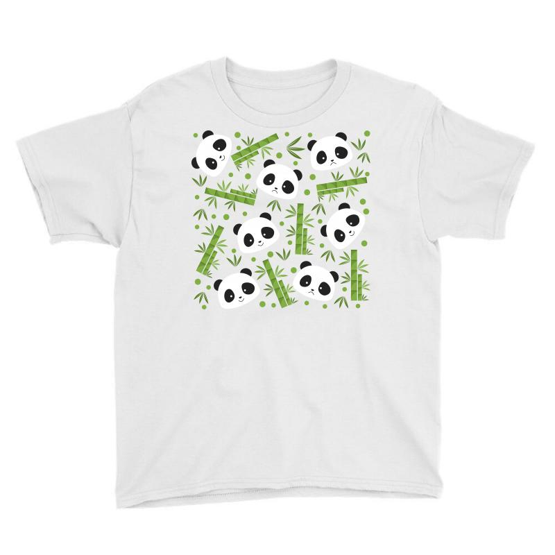Giant Panda Bear Bamboo Icon Green Bamboo Youth Tee | Artistshot