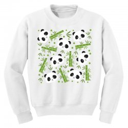 giant panda bear bamboo icon green bamboo Youth Sweatshirt | Artistshot