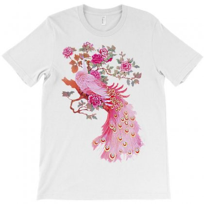Bird Peafowl Feather Pink Paper T-shirt Designed By Salmanaz
