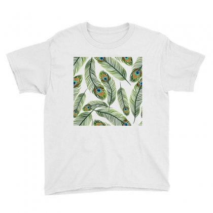 Green Peacock Ling Vector Youth Tee Designed By Salmanaz