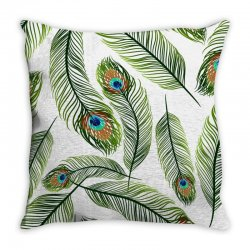 green peacock ling vector Throw Pillow | Artistshot