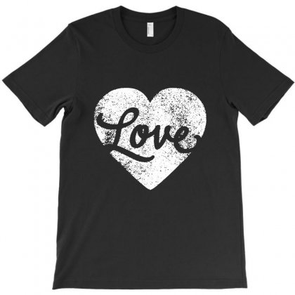 Love White T-shirt Designed By Bertaria