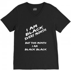 i am black V-Neck Tee | Artistshot