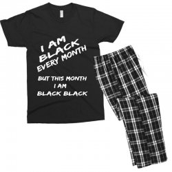i am black Men's T-shirt Pajama Set | Artistshot