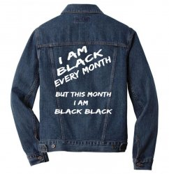 i am black Men Denim Jacket | Artistshot