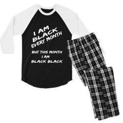 i am black Men's 3/4 Sleeve Pajama Set | Artistshot