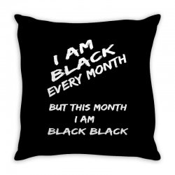 i am black Throw Pillow | Artistshot