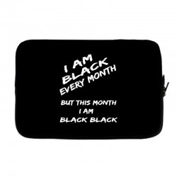 i am black Laptop sleeve | Artistshot
