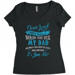 hug my dad Women's Triblend Scoop T-shirt | Artistshot