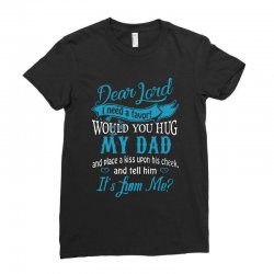 hug my dad Ladies Fitted T-Shirt | Artistshot