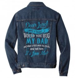 hug my dad Men Denim Jacket | Artistshot