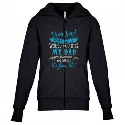 hug my dad Youth Zipper Hoodie | Artistshot