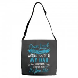 hug my dad Adjustable Strap Totes | Artistshot