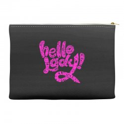 hello lady pink Accessory Pouches | Artistshot