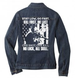 go fast Ladies Denim Jacket | Artistshot