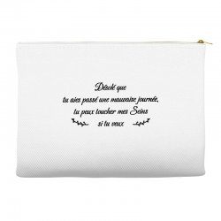 funny quote Accessory Pouches | Artistshot