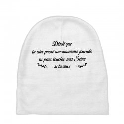 funny quote Baby Beanies | Artistshot