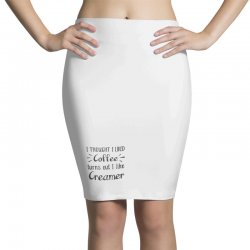 front view, white color Pencil Skirts | Artistshot