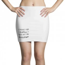 front view, white color Mini Skirts | Artistshot