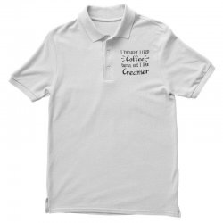 front view, white color Polo Shirt | Artistshot
