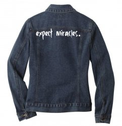 expect it Ladies Denim Jacket | Artistshot