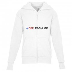 #offleashlife Youth Zipper Hoodie | Artistshot