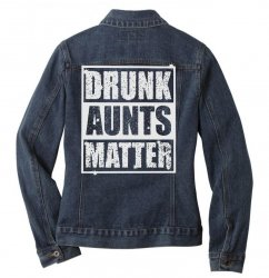 drunk green Ladies Denim Jacket | Artistshot