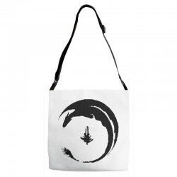 dragon Adjustable Strap Totes | Artistshot