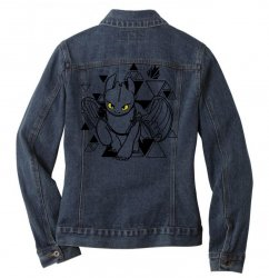 cute dragon Ladies Denim Jacket | Artistshot