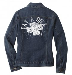 cute clover Ladies Denim Jacket | Artistshot
