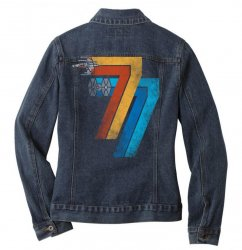 1977 galaxy was changed Ladies Denim Jacket | Artistshot