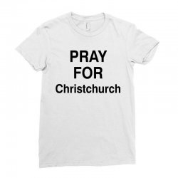 pray for christchurch (black) Ladies Fitted T-Shirt | Artistshot
