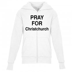 pray for christchurch (black) Youth Zipper Hoodie | Artistshot