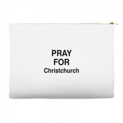 pray for christchurch (black) Accessory Pouches | Artistshot