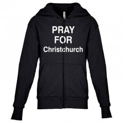 pray for christchurch Youth Zipper Hoodie | Artistshot