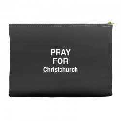 pray for christchurch Accessory Pouches | Artistshot