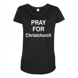 pray for christchurch Maternity Scoop Neck T-shirt | Artistshot