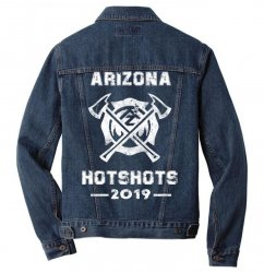 arizona hotshots 2019 white Men Denim Jacket | Artistshot