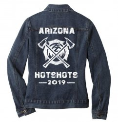 arizona hotshots 2019 white Ladies Denim Jacket | Artistshot