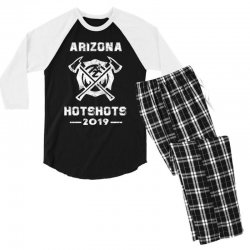 arizona hotshots 2019 white Men's 3/4 Sleeve Pajama Set | Artistshot