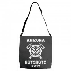 arizona hotshots 2019 white Adjustable Strap Totes | Artistshot