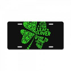 clover green License Plate | Artistshot