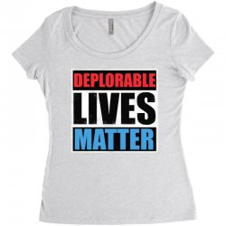 deplorable lives matter Women's Triblend Scoop T-shirt | Artistshot