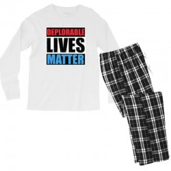 deplorable lives matter Men's Long Sleeve Pajama Set | Artistshot