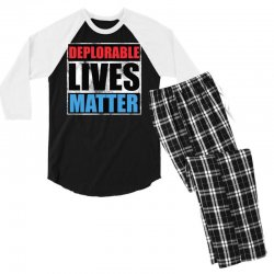 deplorable lives matter Men's 3/4 Sleeve Pajama Set | Artistshot