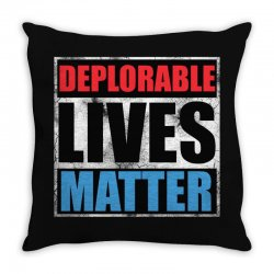 deplorable lives matter Throw Pillow | Artistshot