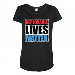 deplorable lives matter Maternity Scoop Neck T-shirt | Artistshot