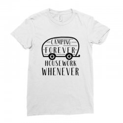camping forever Ladies Fitted T-Shirt | Artistshot